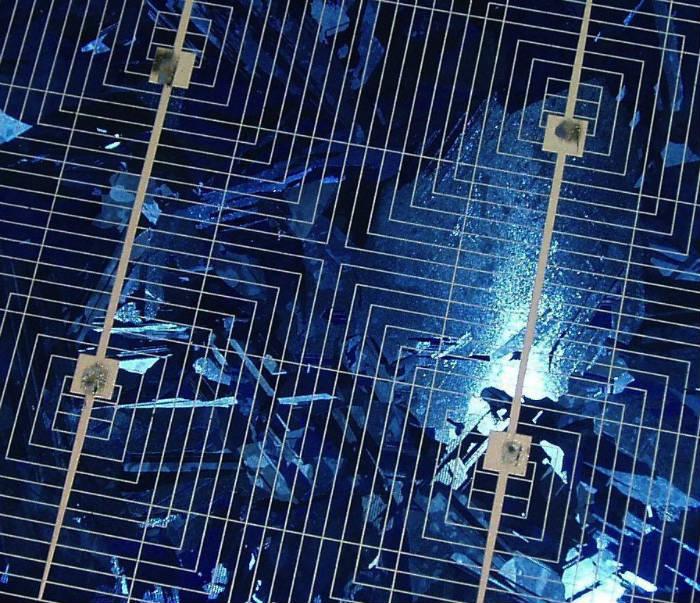 Fotovoltaico come | dettaglio di un modulo di cella fotovoltaica