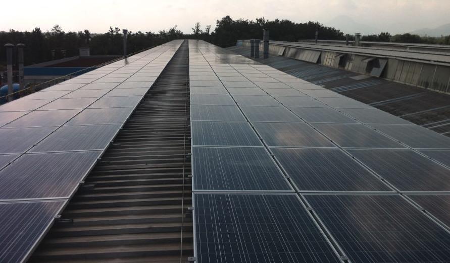 Impianto fotovoltaico AGC Roccasecca | copertura solare Frosinone, Lazio