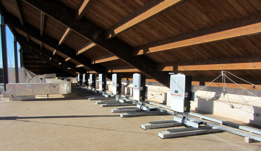 Auchan Casamassima, Bari Puglia | impianto fotovoltaico Inverter e locale tecnico