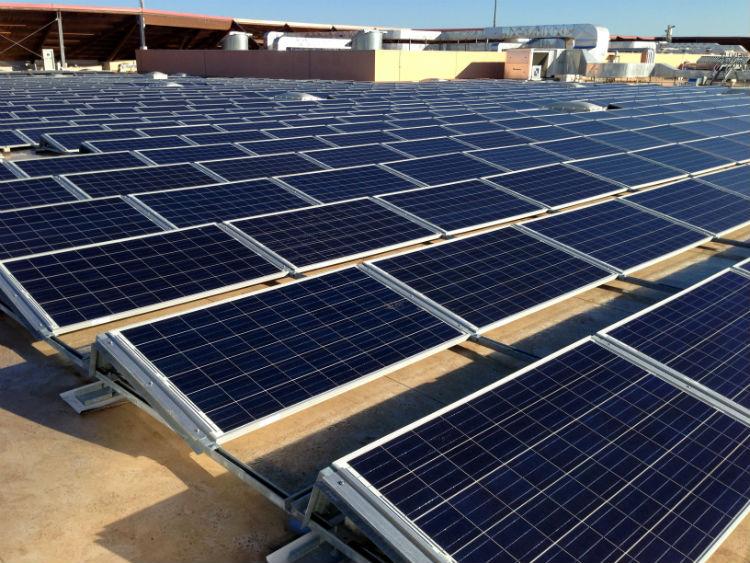 Impianto fotovoltaico | Moduli tetto piano Auchan Casamassima Bari, Puglia