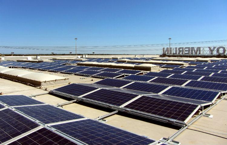 Leroy Merlin Mesagne | Vista di insieme impianto fotovoltaico Lecce Puglia